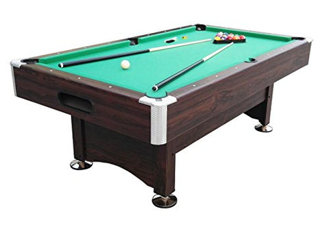 By PoolCentral 8' x 4.3' Brown and Green Billiard and Pool Game Table