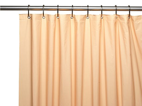 Park Avenue Deluxe Collection Park Avenue Deluxe Collection Premium 4 Gauge Vinyl Shower Curtain Liner w/ Weighted Magnets and Metal Grommets in Peach
