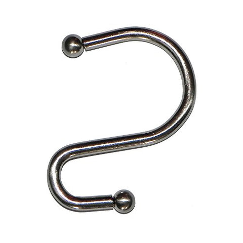 Park Avenue Deluxe Collection Park Avenue Deluxe Collection  inch S inch  Shower Curtain Hooks in Brushed Nickel