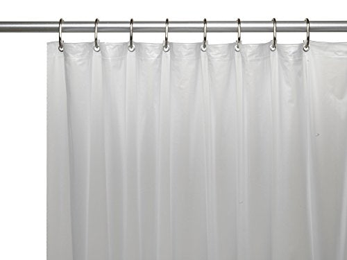 Royal Bath Heavy 3 Gauge Vinyl Shower Curtain Liner with Weighted Magnets and Metal Grommets (72 inch  x 72 inch ) - Frosty Clear
