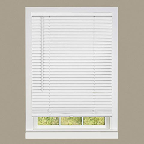 Park Avenue Collection Cordless GII Deluxe Sundown 1 inch  Room Darkening Mini Blind 30x64 - Pearl White