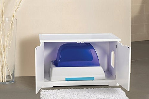 Pet Rite Collection Cat Washroom Bench White Litter Box Cover