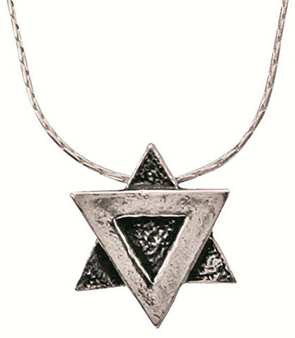 Silver Star Of David Necklace - Chain 16 inch  Pendant 1/2 inch  X 1/2 inch