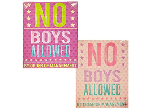 Regalo Perfecto Collection No Boys Allowed Canvas Wrapped Wall Art
