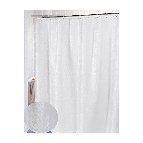 Park Avenue Deluxe Collection Park Avenue Deluxe Collection  inch Damask inch  Fabric Shower Curtain in Ivory