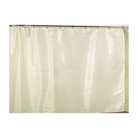 Park Avenue Deluxe Collection Park Avenue Deluxe Collection Extra Wide Polyester Fabric Shower Curtain Liner in Ivory