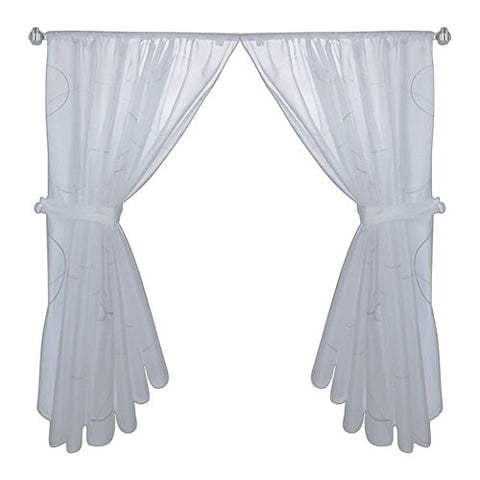 Park Avenue Deluxe Collection Park Avenue Deluxe Collection  inch Ava inch  Fabric Window Curtain