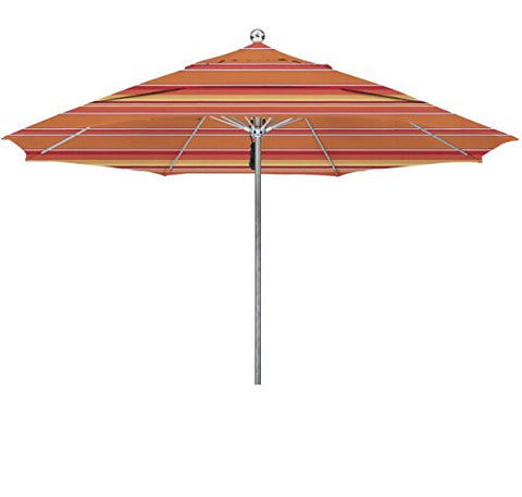 Eclipse Collection 11'SSteel SinglePole FGlass Ribs M Umbrella DV Anodized/Sunbrella/Dolce Mango