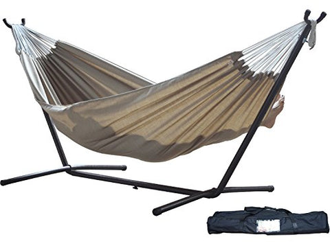 Eclipse Collection Vivere's Combo - Sunbrella® Sand Hammock with Stand (9ft)