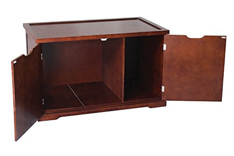 Pet Rite Collection Cat Washroom bench Walnut Litter Box Cover