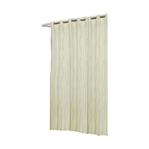 Park Avenue Deluxe Collection Extra Long EZ-ON?  inch Bristol inch  Polyester Shower Curtain