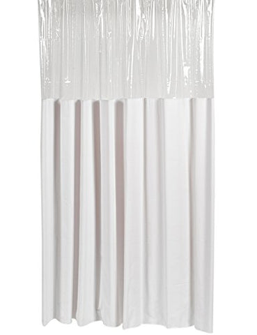 Park Avenue Deluxe Collection Park Avenue Deluxe Collection Extra Long  inch Window inch  Vinyl Shower Curtain in White