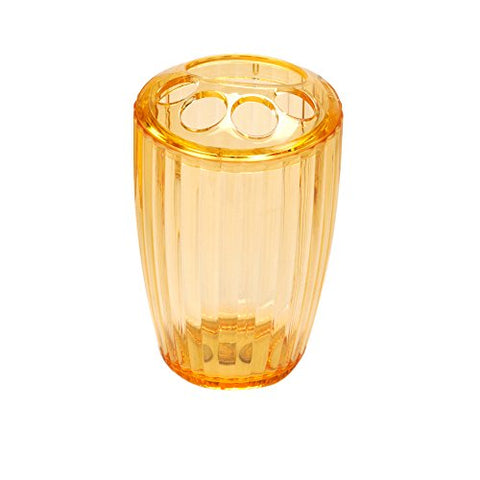 Park Avenue Deluxe Collection Park Avenue Deluxe Collection Orange Rib-Textured Toothbrush Holder