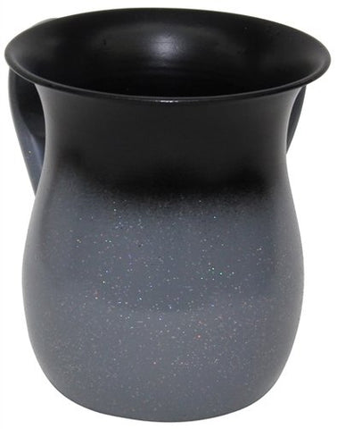 Ultimate Judaica Wash Cup Stainless Steel Grey With Sparkle - 5.5 inch H