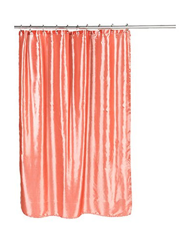 Park Avenue Deluxe Collection Park Avenue Deluxe Collection  inch Shimmer inch  Faux Silk Shower Curtain in Salmon