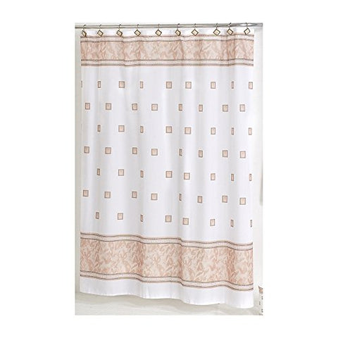 Park Avenue Deluxe Collection Park Avenue Deluxe Collection  inch Windsor inch  Fabric Shower Curtain in Ivory