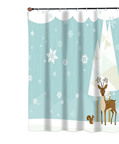 Park Avenue Deluxe Collection Park Avenue Deluxe Collection  inch Forest Friends inch  Fabric Shower Curtain