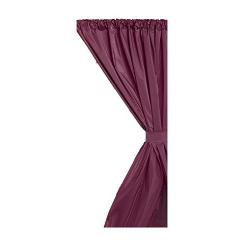 Park Avenue Deluxe Collection Park Avenue Deluxe Collection Vinyl Window Curtain in Burgundy