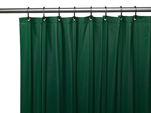 Park Avenue Deluxe Collection Park Avenue Deluxe Collection 3 Gauge Vinyl Shower Curtain Liner w/ Weighted Magnets and Metal Grommets in Evergreen
