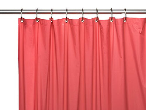 Park Avenue Deluxe Collection Park Avenue Deluxe Collection Premium 4 Gauge Vinyl Shower Curtain Liner w/ Weighted Magnets and Metal Grommets in Rose