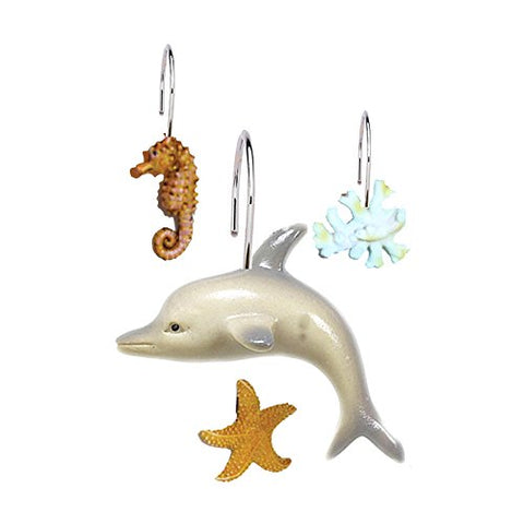 Park Avenue Deluxe Collection Park Avenue Deluxe Collection  inch Seascape inch  Resin Shower Curtain Hooks