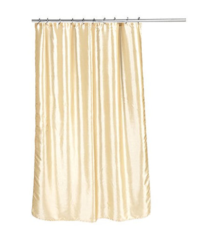 Park Avenue Deluxe Collection Park Avenue Deluxe Collection  inch Shimmer inch  Faux Silk Shower Curtain in Ivory