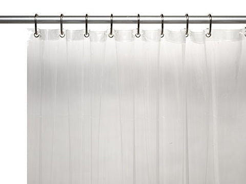 Royal Bath Jumbo Long Extra Heavy 8 Gauge Vinyl Shower Curtain Liner with Metal Grommets (72 inch  x 96 inch ) - Clear