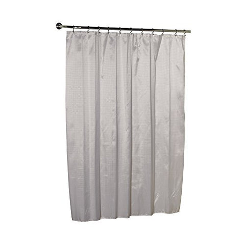 Park Avenue Deluxe Collection Park Avenue Deluxe Collection  inch Lauren inch  Dobby Fabric Shower Curtain in White