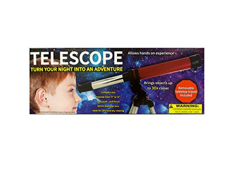 Regalo Perfecto Collection Compact Telescope with Tabletop Tripod