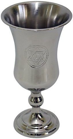 Kiddush Cup Nickel Star Of David 5.5 inch H