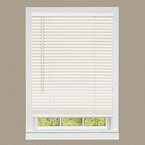 Park Avenue Collection Cordless GII Deluxe Sundown 1 inch  Room Darkening Mini Blind 30x64 - Alabaster