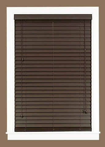 Park Avenue Collection Madera Falsa 2 inch  Faux Wood Plantation Blind 27x64 - Mahogany