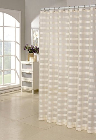 Royal Bath Capri Faux Linen Shower Curtain /Ivory