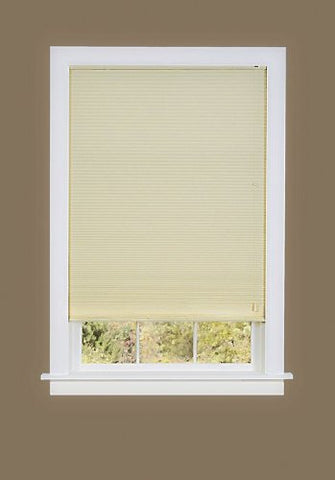 Park Avenue Collection Honeycomb Cellular Pleated Shade 23x64 - Alabaster