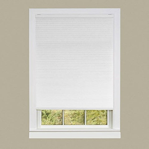 Park Avenue Collection Cordless Honeycomb Cellular Pleated Shade 23x64 - White
