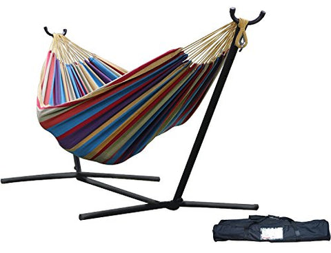 Eclipse Collection Vivere's Combo - Double Tropical Hammock with Stand (9ft)
