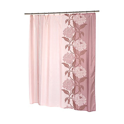 Park Avenue Deluxe Collection Extra Long  inch Chelsea inch  Fabric Shower Curtain in Mauve