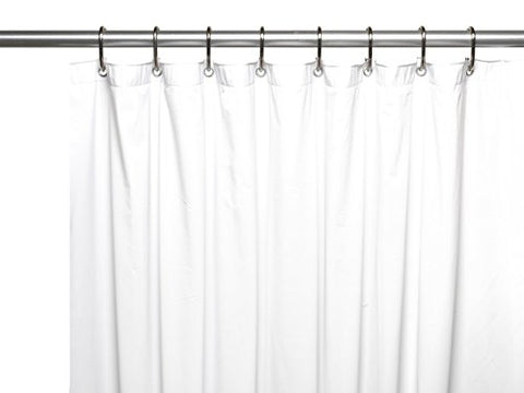 Park Avenue Deluxe Collection Park Avenue Deluxe Collection Shower Stall-Sized (54'' x 78'') Mildew-Resistant 10 Gauge Vinyl Shower Curtain Liner w/ Metal Grommets and Reinforced Mesh Header in White