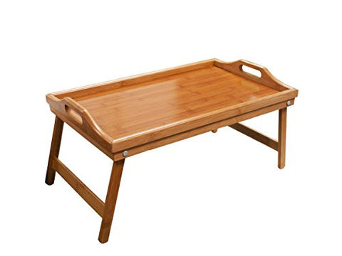 Regalo Perfecto Collection Bamboo Bed Tray with Folding Legs