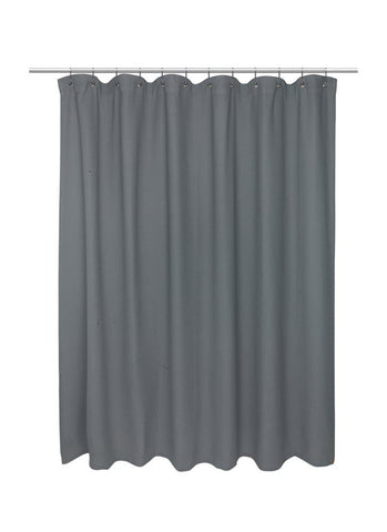 Park Avenue Deluxe Collection Park Avenue Deluxe Collection Standard Size 100% Cotton Waffle Weave Shower Curtain pewter.