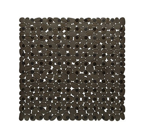 Park Avenue Deluxe Collection Park Avenue Deluxe Collection Stall Size inch Pebbles inch  Vinyl Bath Mat in natural / black.