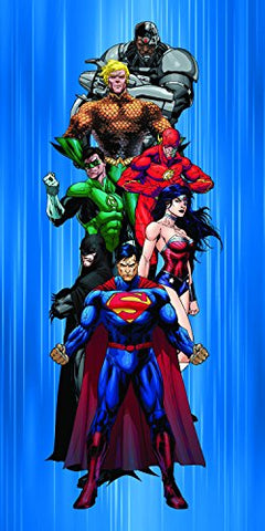 Royal Plush Beach Towel (30 inch  x 60 inch ) - Justice League Ready for Action