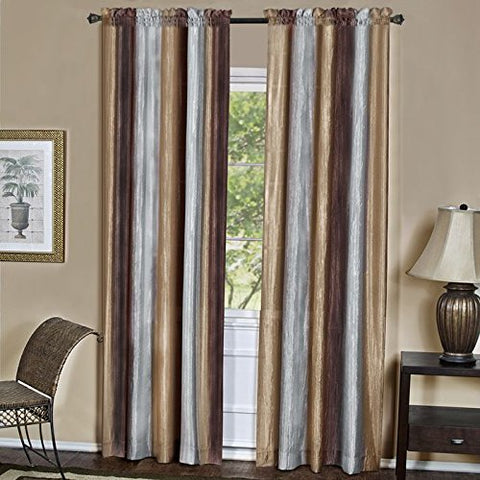 Park Avenue Collection Ombre Panel 50x84 - Chocolate