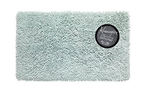 Park Avenue Deluxe Collection Park Avenue Deluxe Collection Shaggy Cotton Chenille Bath Room Rug Size 21 inch x34 inch  in Spa Blue