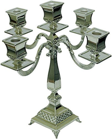 Ultimate Judaica Silver Plated Candelabra