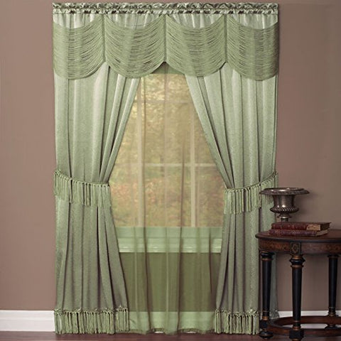 Park Avenue Collection Halley 6 Piece Set - 56x63 - Sage