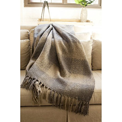 Ben and Jonah Annette Throw Blanket (Taupe)
