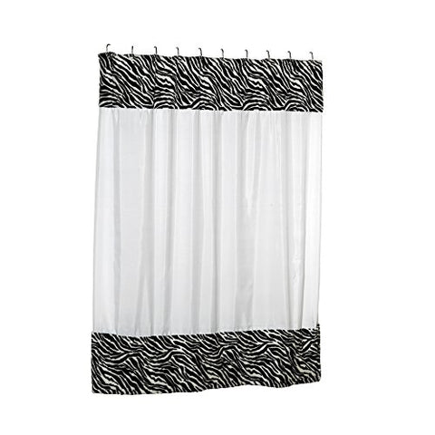 Park Avenue Deluxe Collection Park Avenue Deluxe Collection  inch Serengeti inch  Faux Fur-Trimmed Shower Curtain