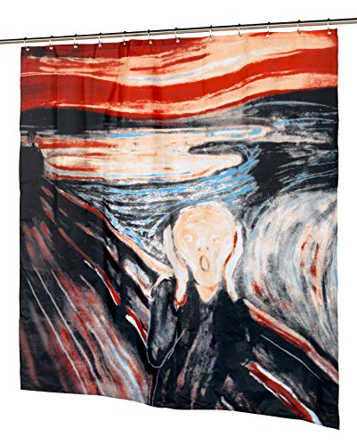 Art at Home The Scream Design Fabric Shower Curtain Size: 70 inch  x 72 inch