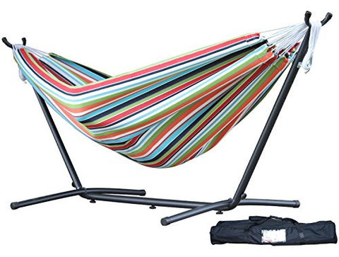 Eclipse Collection Vivere's Combo - Sunbrella® Confetti Hammock with Stand (9ft)